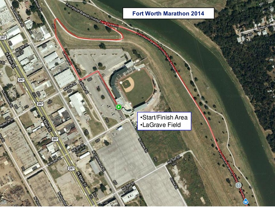 Fort Worth Marathon Start/Finish