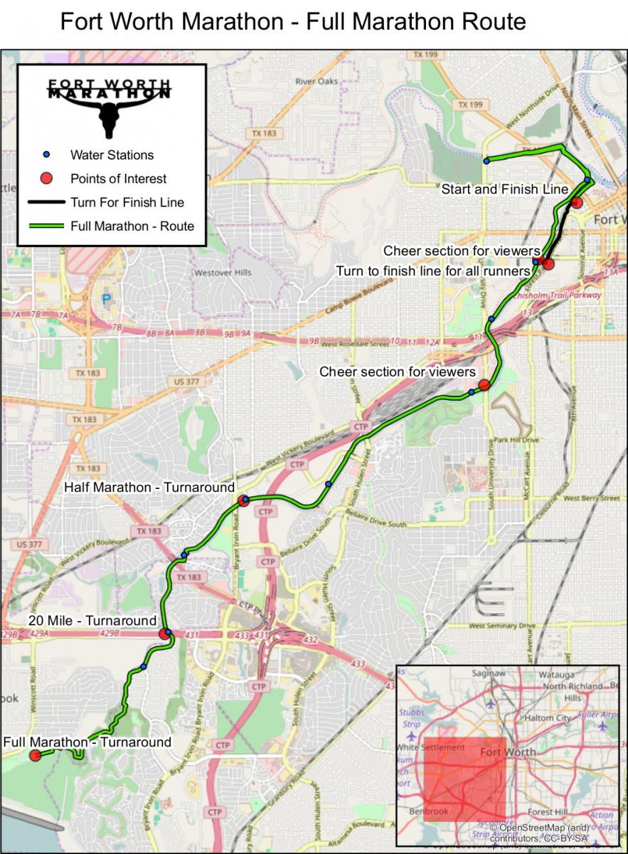 2017 Fort Worth Marathon 20 Mile and 12 Marathon Race