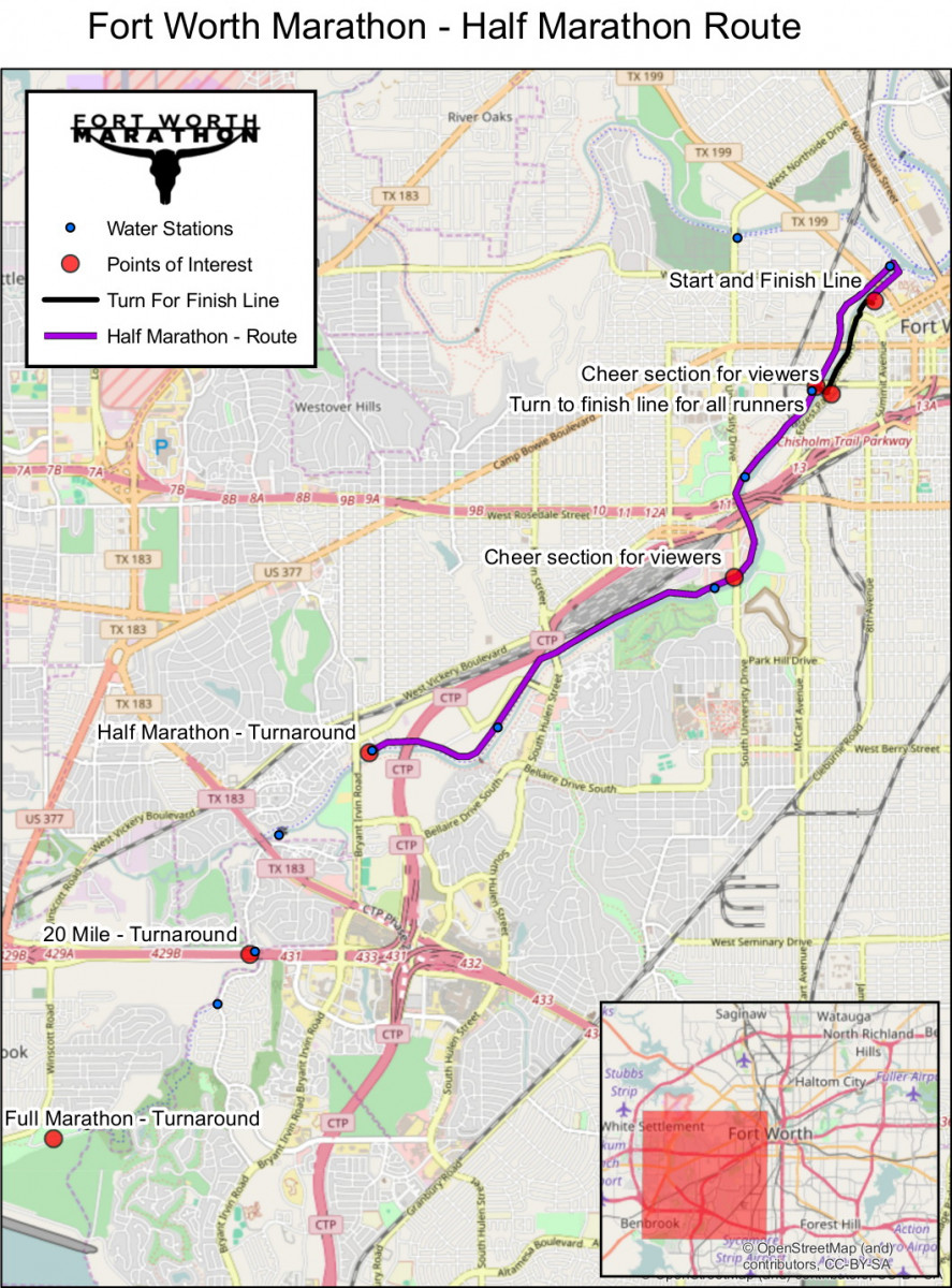 2017 Fort Worth Marathon 20 Mile and 12 Marathon Race Information